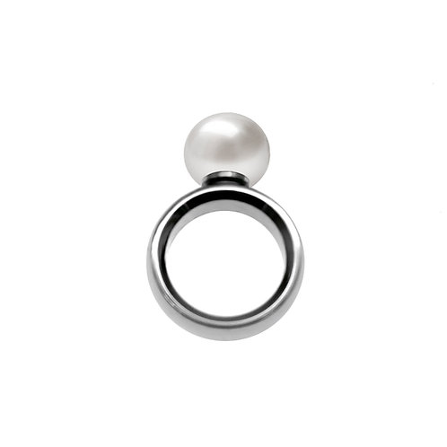 One & Ownly - Moonwalk -不鏽鋼配12-13mm淡水珍珠戒指