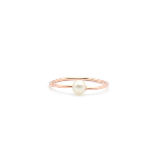 14K金包金線淡水珍珠戒指