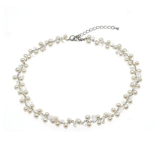 One & Ownly-Tale-養殖淡水珍珠配水晶織鏈