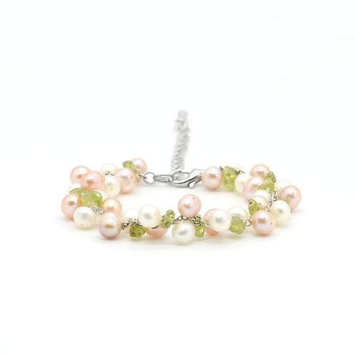Peridot 淡水珍珠橄欖石手鏈