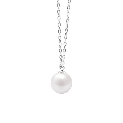 月球淡水珍珠吊墜/ Moon cultured fresh water pearl pendant