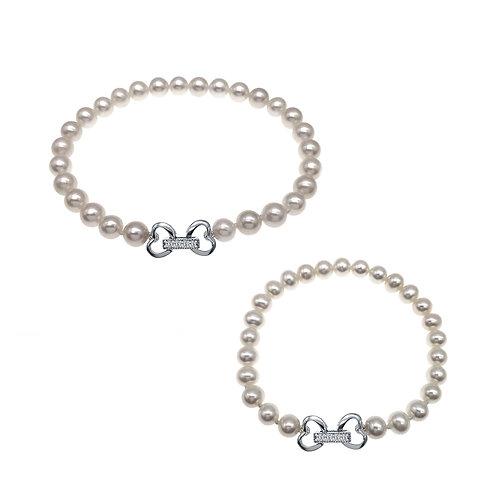 親子手鏈套裝Mon & Child Set-養殖淡水珍珠配925純銀手鏈