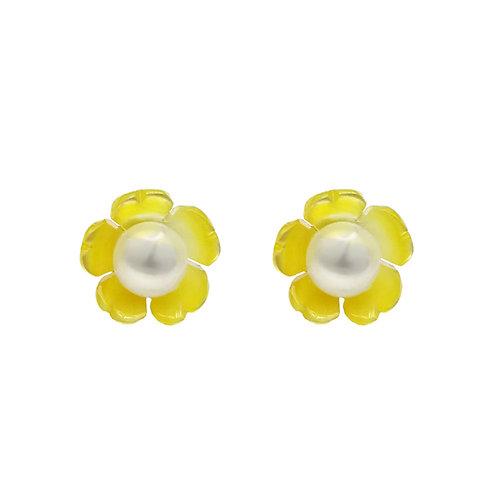 Buttercups-925 純銀配淡水珍珠及珍珠貝耳環