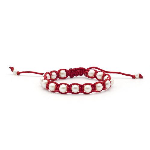 淡水珍珠配尼龍織繩手鏈