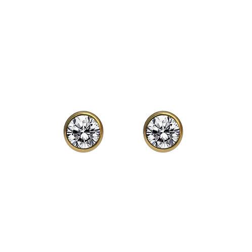 14K包金 (1/20) 鑲白鋯石耳環