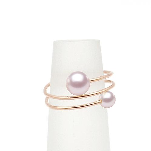 14K金包金綫淡水珍珠戒指