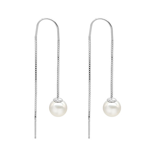 Bulb-7-8mm 淡水珍珠配925銀耳環