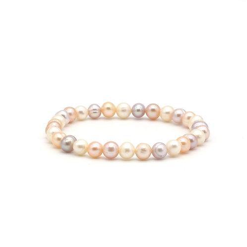 天然色淡水珍珠手鏈