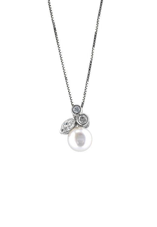 Pearl fruit 純銀鋯石吊墜