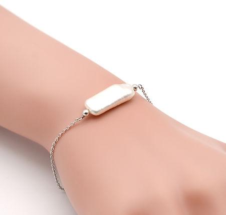 淡水珍珠配純銀手鏈 pearl with 925 silver bracelet
