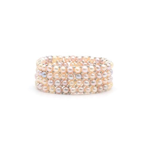 Catherine - 淡水珍珠 配 925 銀手鏈