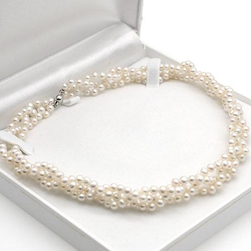 淡水珍珠配925純銀頸鏈