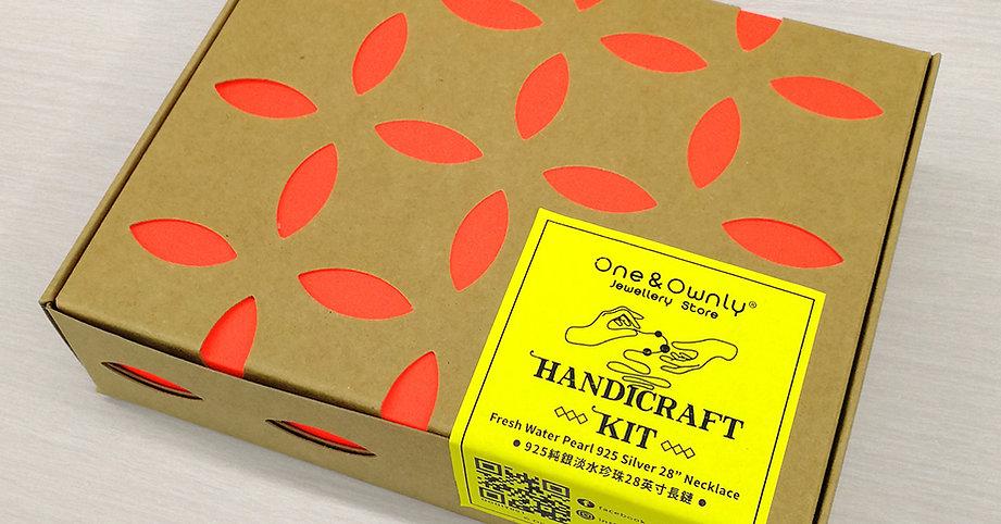 One & Ownly - 首飾 DIY Handicraft Kit- 淡水珍珠配白水晶925純銀28英寸頸鏈