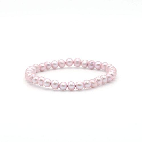 天然粉紅色淡水珍珠手鏈