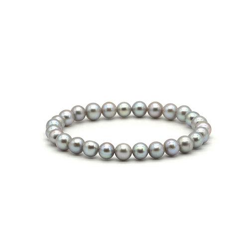 灰色淡水珍珠手鏈