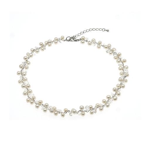 淡水珍珠水晶織鏈