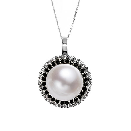 14-15mm 圓形 淡水珍珠吊墜