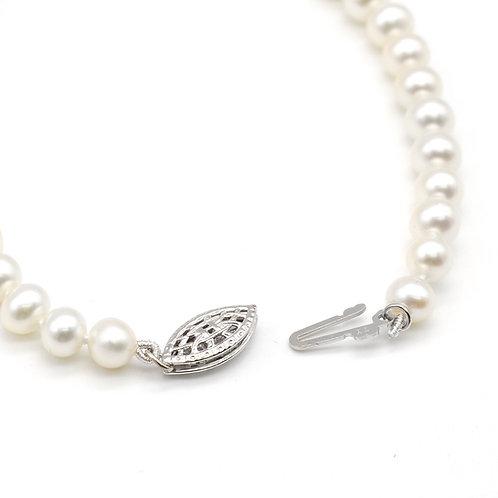 4-5mm淡水珍珠純銀手鏈及耳環禮物套裝