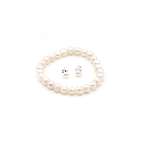 淡水珍珠 手鏈及耳環套裝