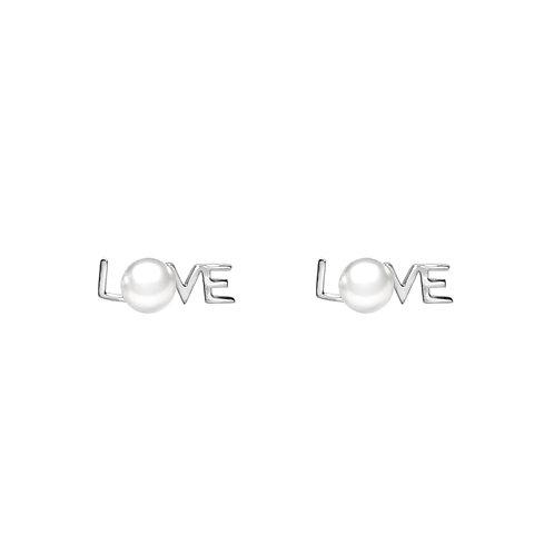 Love-淡水珍珠配 926純銀耳環