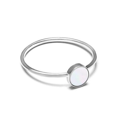 星之輪-925銀鑲珍珠貝戒指
