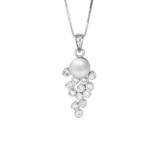 Grape 純銀淡水珍珠吊墜