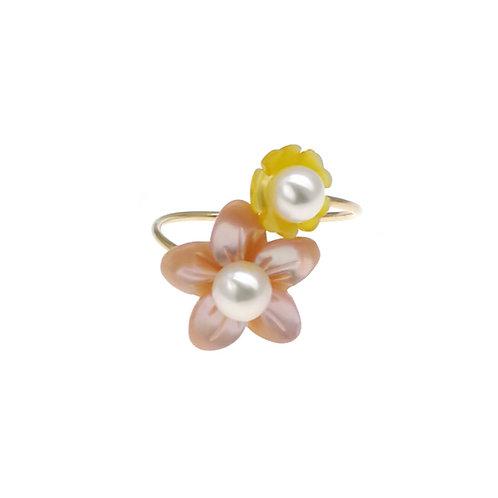 One & Ownly - Spring- 14K包金925 純銀配淡水珍珠戒指