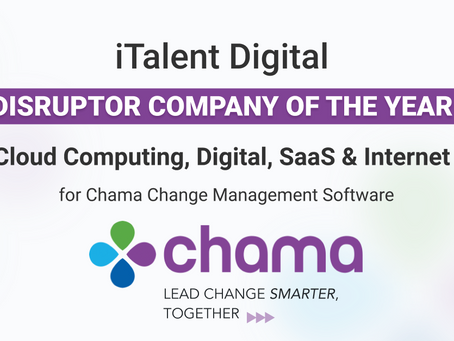 """Chama change management software earns iTalent Digital the title of """"Disruptor Company of the Year"""""""
