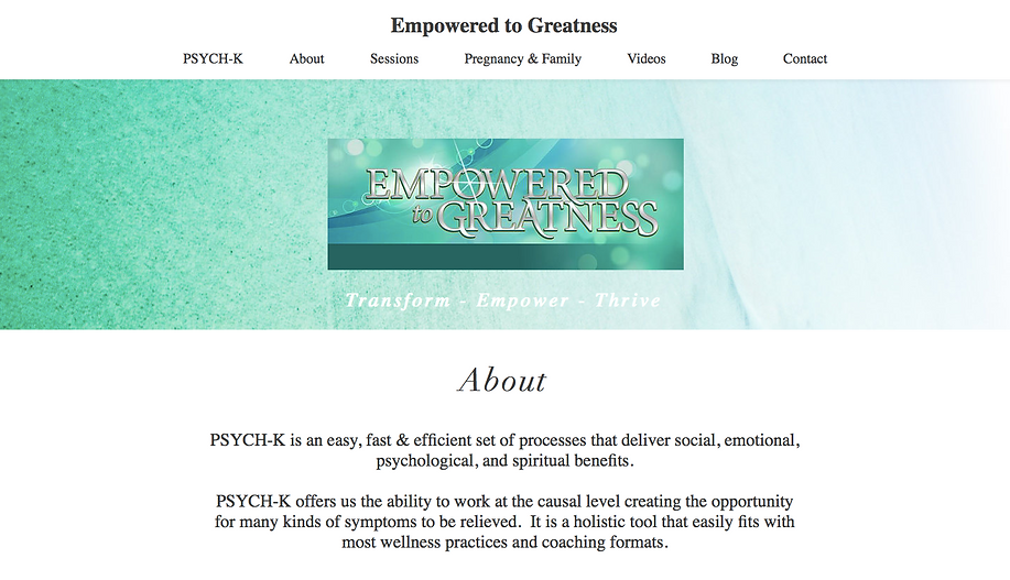 Empowered to Greatness - Homepage Top.pn