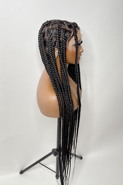Medium knotless braided unit