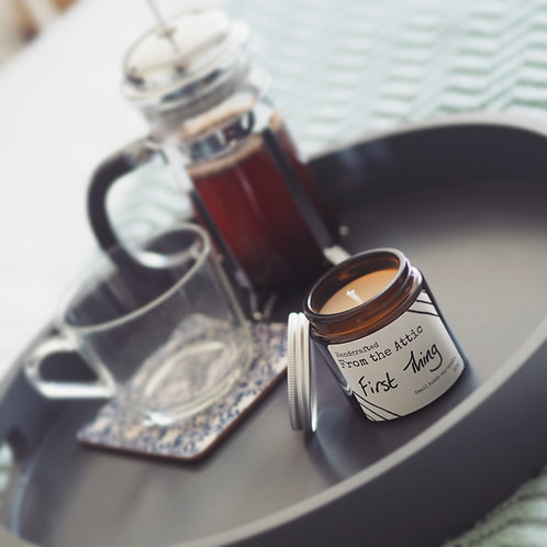 FIRST THING - Hand poured soy wax candle