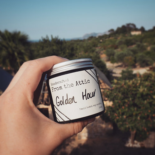 GOLDEN HOUR - Hand poured soy wax candle