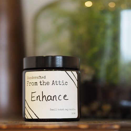 ENHANCE - hand poured soy wax candle.