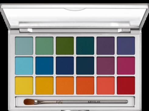 Kryolan Eyeshadow Variety V2 18 farben