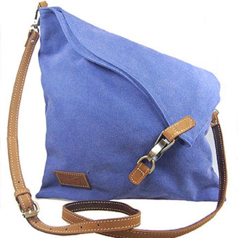 Canvas Flapover bag (blue)