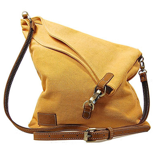 Canvas Flapover bag (yellow)