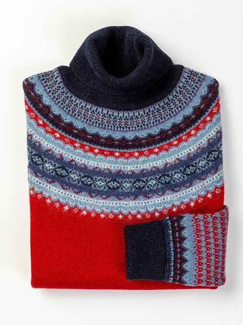 Alpine Roll Neck Sweater (Poppy)