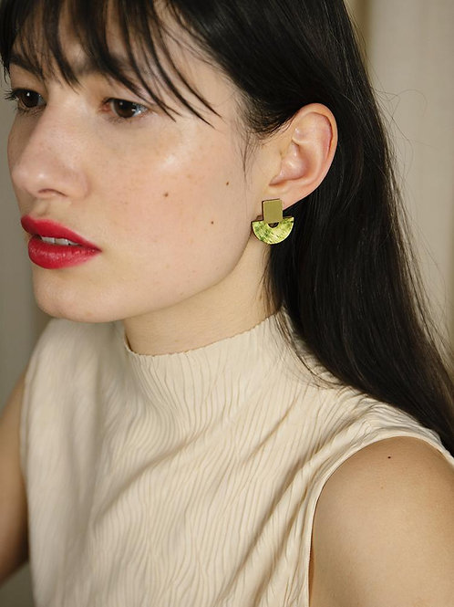 Marina Studs in Olive Mother Pearl