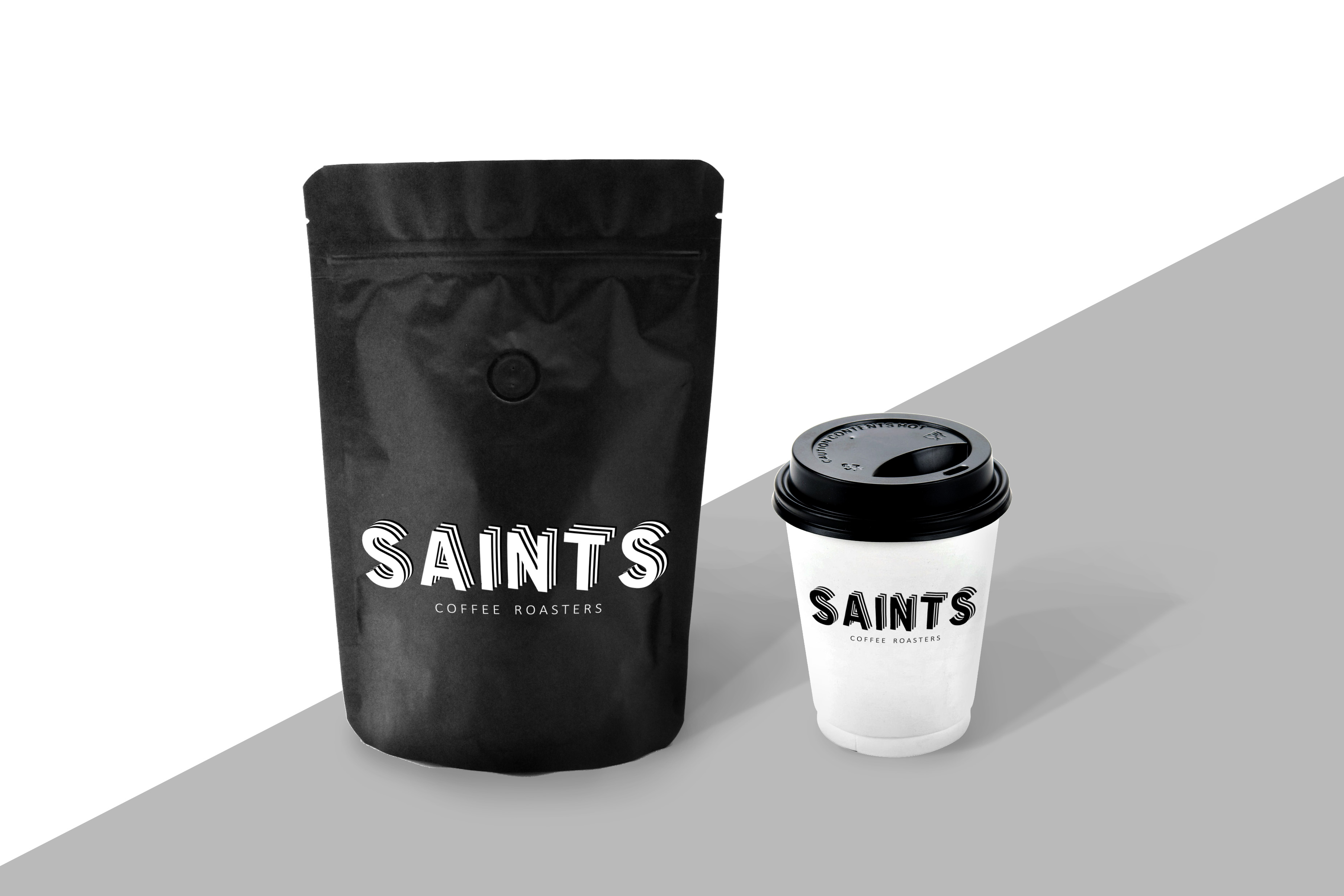 Saints Coffee branding design