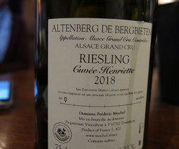 Dégustation de Riseling Grand Cru Altenberg de Bergbieten chez Guillaume Mochel