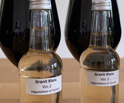 Dégustation géo-sensorielle : six vins blancs issus de terroirs granitiques