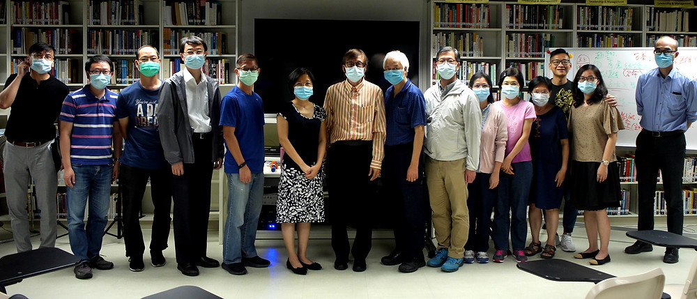 Stephen (fourth from left) at Lumina College in a class taught by Dr. Leung Wing Tai (seventh from left).