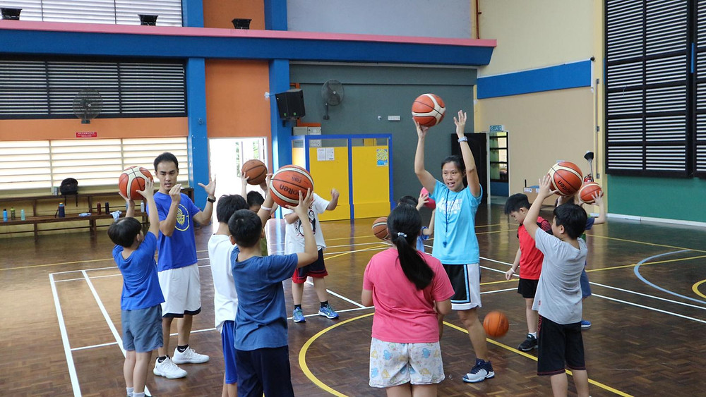 Sindy on a basketball mission trip in Malaysia.