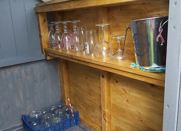 Extra shelf for glasses