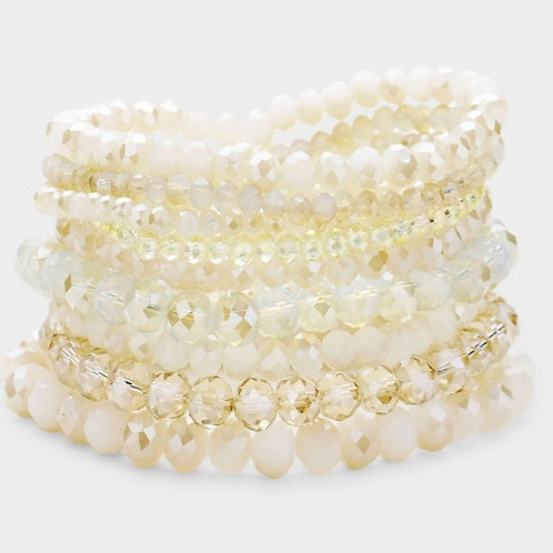 Faceted Bead Bracelets- Neutral
