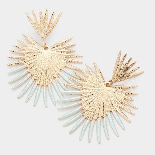Abstract Dangle Earrings - Mint