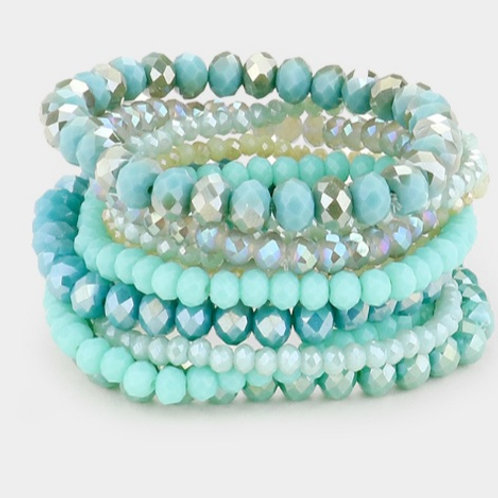 Faceted Bead Bracelets - Turquoise