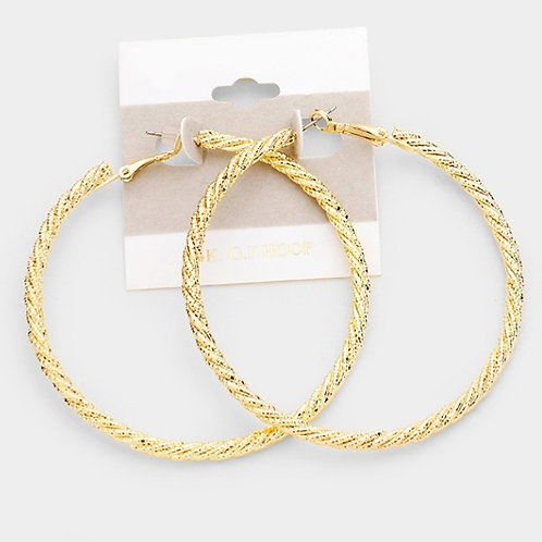 Gold Filled Twisted Hoop Earrings