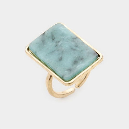 Rectangle Ring - Mint