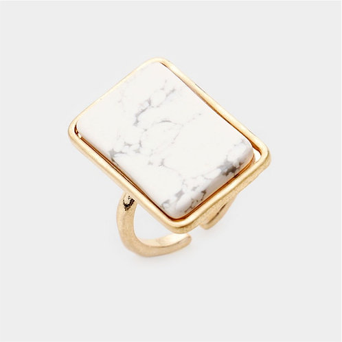 Rectangle Ring - White